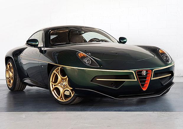 Alfa Romeo Disco Volante se v �enev� obl�kne do zelen� a zlat�