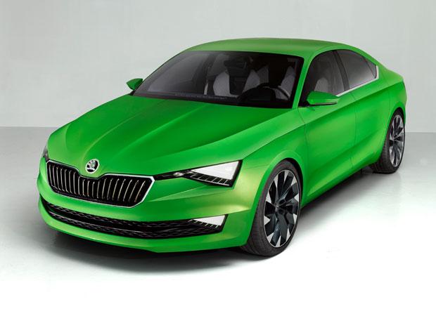 Škoda Vision C: Pětidveřové kupé je předobrazem příštího Superbu