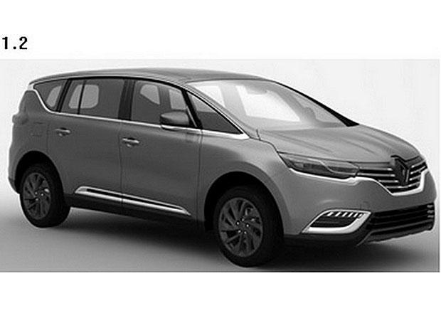 Nový Renault Espace na patentových snímcích