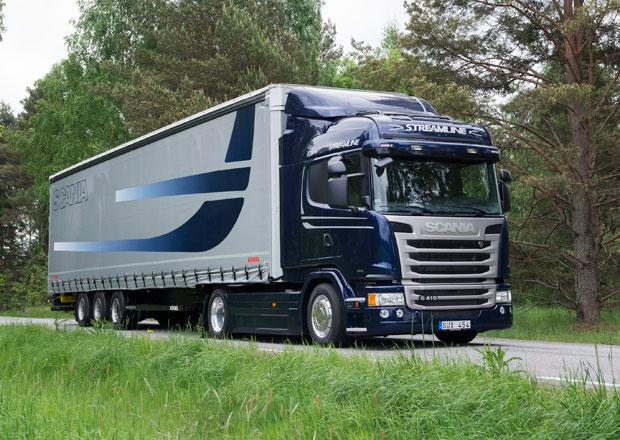 Ocenění pro tahač Scania s motorem Euro 6