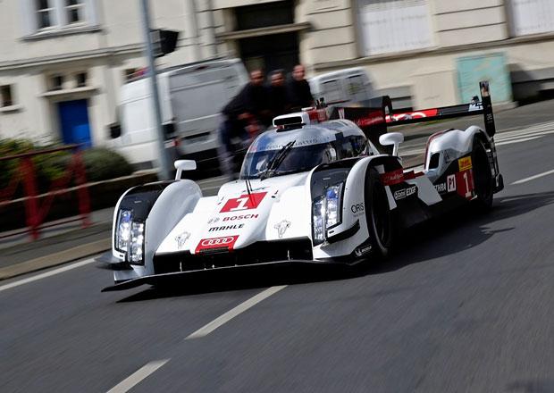 Audi R18 e-tron quattro 2014 v ulicích Le Mans (+video)