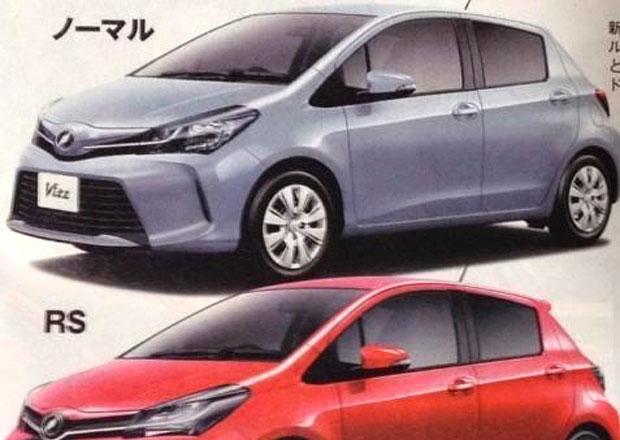 Toyota Yaris: faceliftovaná verze vyzrazena