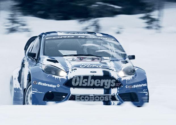Ford testuje Fiestu ST pro rallycross na sněhu (+video)