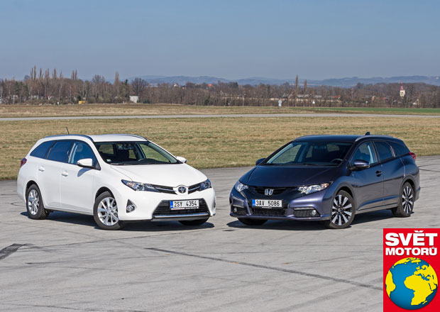 Honda Civic Tourer 1.8 i-VTEC vs. Toyota Auris Touring Sports 1.6