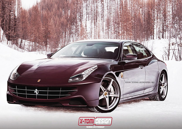 Čtyřdveřové Ferrari: Vizualizace od X-Tomi Design