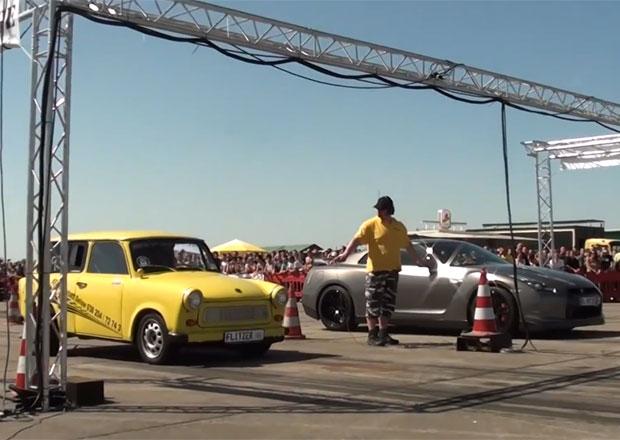 Video: Trabant zesměšní Nissan GT-R