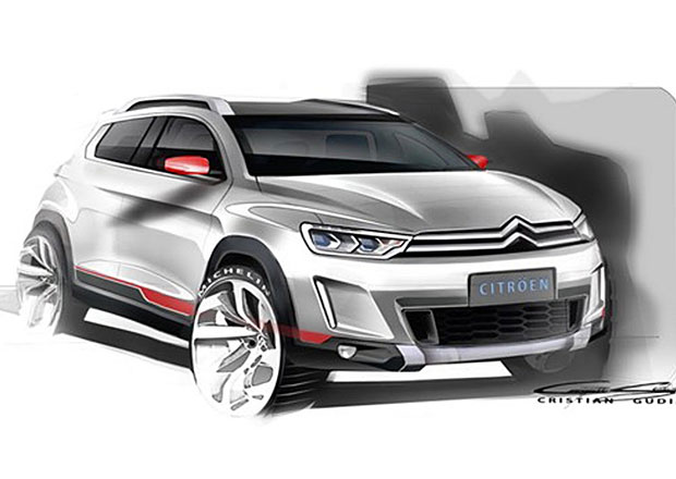 Citroën na prvních skicách ukazuje bratra Peugeotu 2008