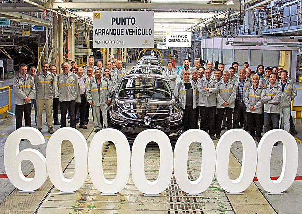 Renault vyrobil v Palencii u� �est milion� aut