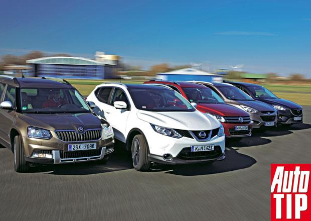 Nissan Qashqai vs. Hyundai ix35, Mazda CX-5, Škoda Yeti a Volkswagen Tiguan