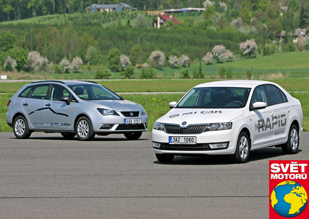 Seat Ibiza ST 1.2 TSI/77 kW vs. Škoda Rapid 1.2 TSI/63 kW