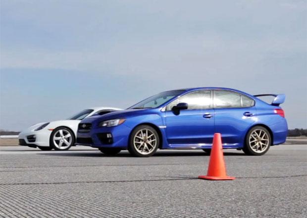 Subaru WRX STI vs. Porsche Cayman: Kdo bude rychlejší? (video)