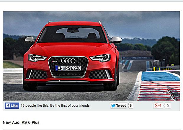 Audi RS6 Avant plus: Ostré kombi od čtyř kruhů bude mít 600 koní