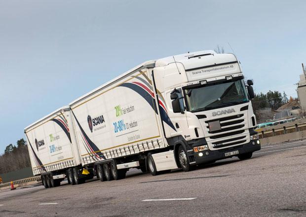 Scania: Delší soupravy jsou přínosem pro životní prostředí
