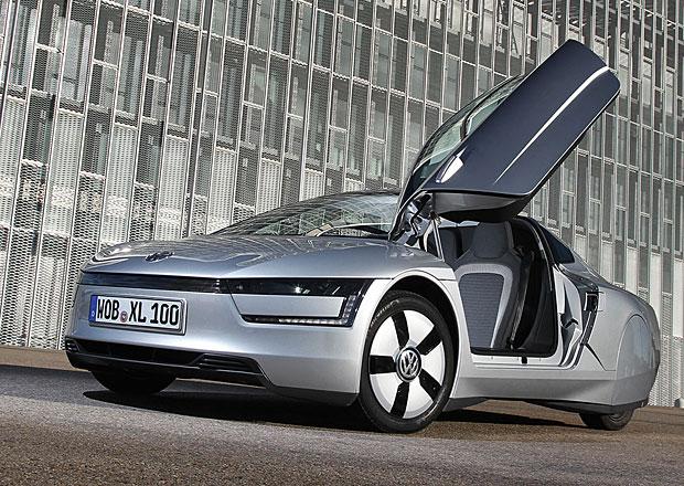 Volkswagen XL2: �sporn� hybridn� futurista pojme �ty�i cestuj�c�