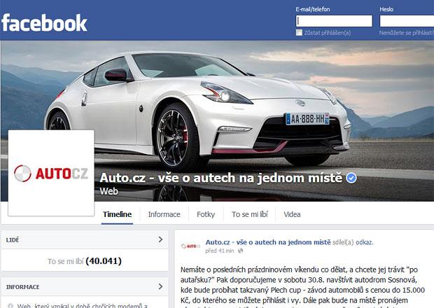 Auto.cz má přes 40.000 fanoušků na facebooku. Děkujeme!