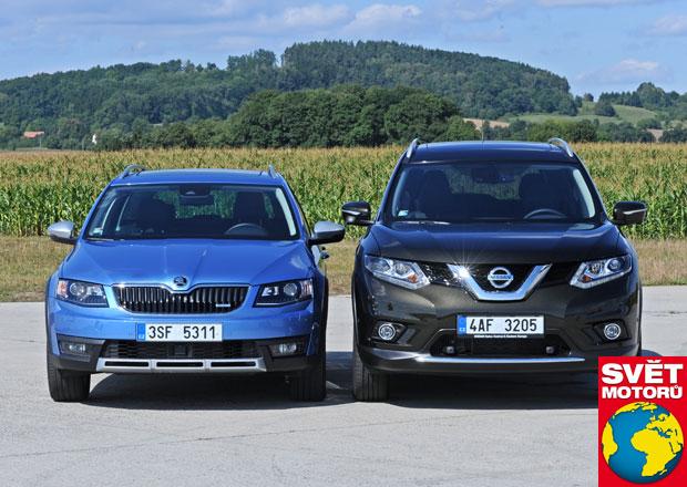 Nissan X-Trail 1.6 dCi vs. Škoda Octavia Scout 2.0 TDI - Blíž než si myslíte