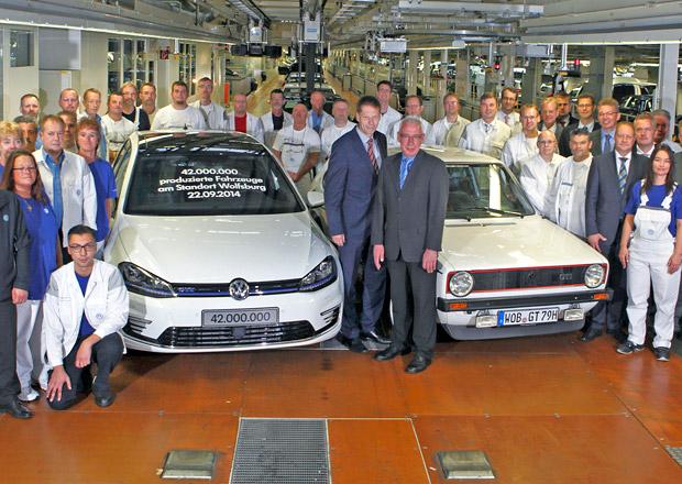 Z továrny Volkswagenu ve Wolfsburgu vyjelo už 42 milionů aut