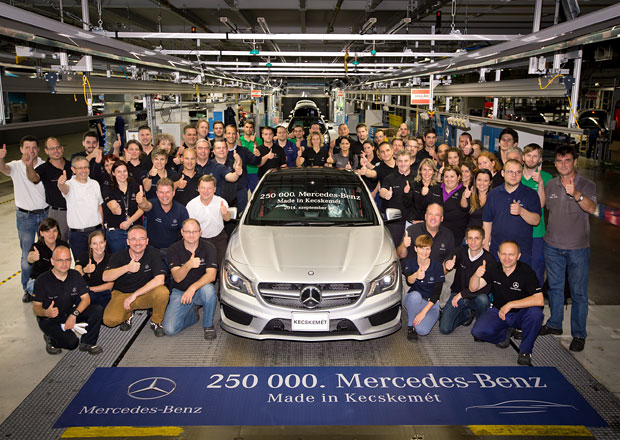 Mercedes-Benz vyrobil v Maďarsku už 250.000 aut