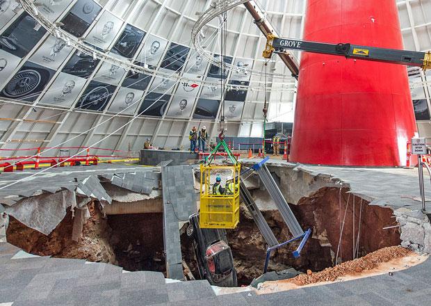 Oprava podlahy v Corvette National Museu vyjde na 69 milionů Kč