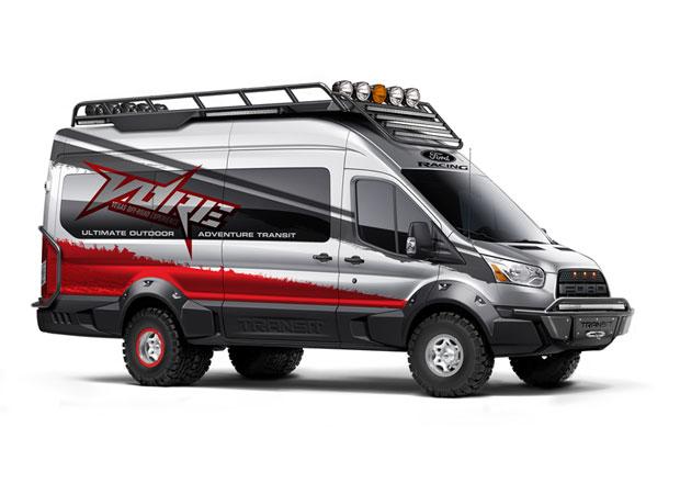 Ford na SEMA: Transit p�tkr�t jinak