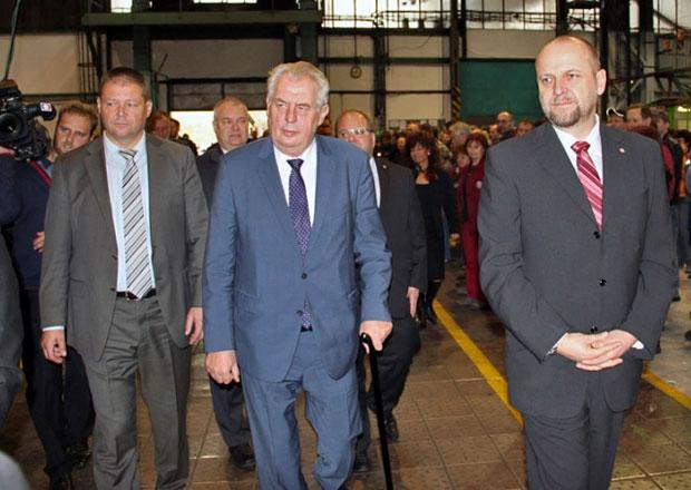 Prezident Miloš Zeman navštívil Tatru