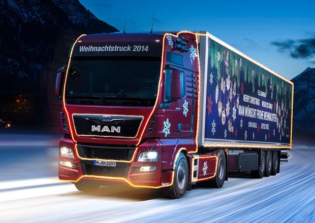 MAN opět vypravil vánoční kamion