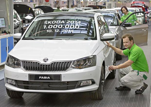 Škoda letos vyrobila milion vozů, jubilantem je Fabia 1.2 TSI/81 kW