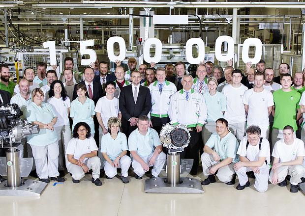 V roce 2014 vyrobila Škoda 1,5 milionu motorů a převodovek