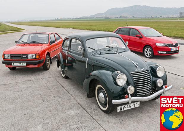 Škoda Rapid 3x jinak: Dělí je od sebe 74 let