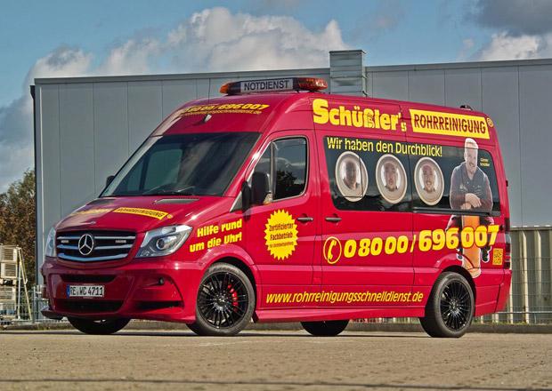 Mercedes-Benz Sprinter v úpravě Hartmann pro instalatéry