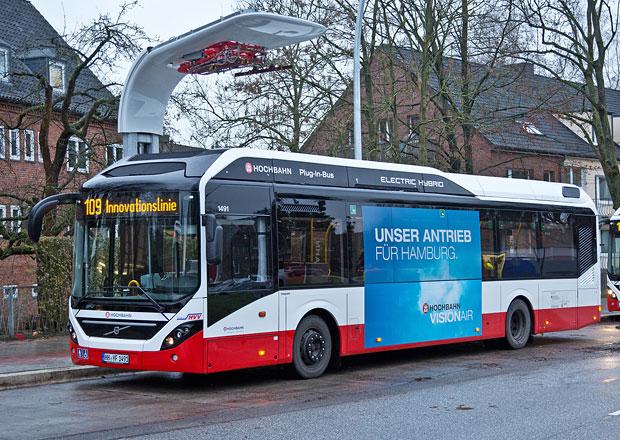 Plug-in hybridní autobusy Volvo na lince v Hamburku (+video)