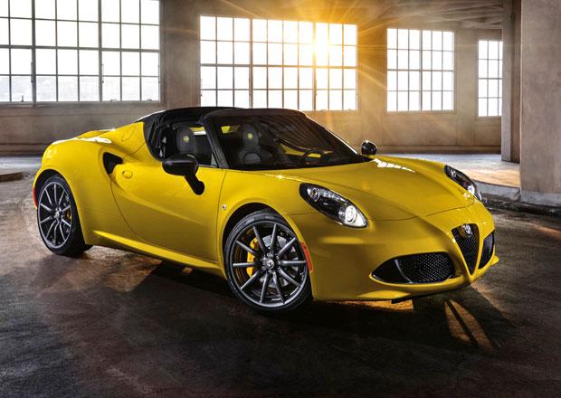 Alfa Romeo 4C Spider se oficiálně představila v Detroitu