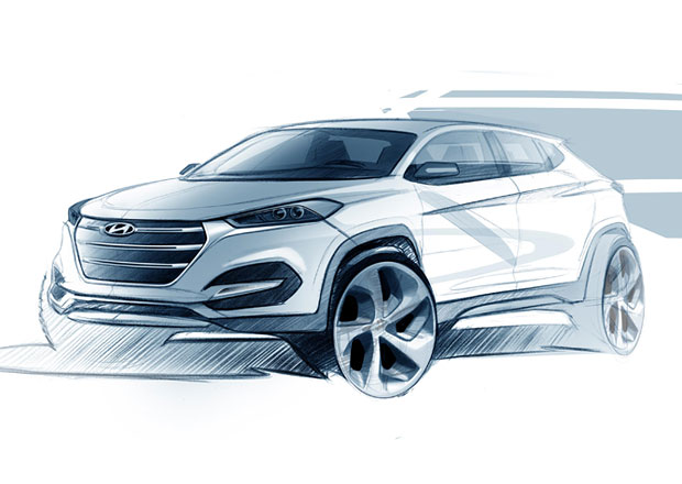 Hyundai Tucson: Nov� ix35 na prvn� skice (+video)