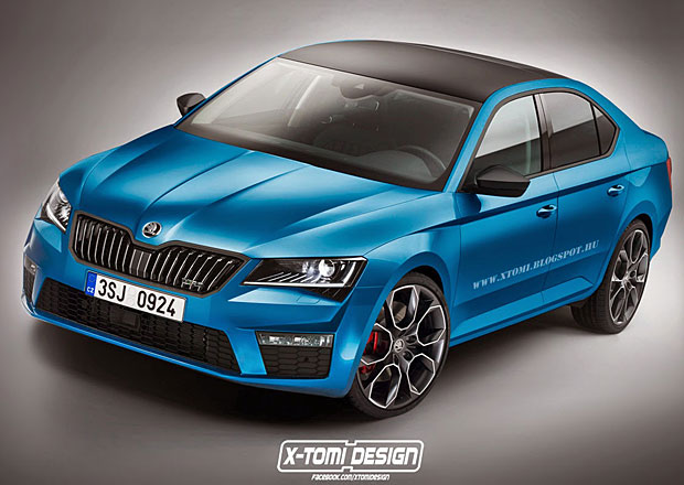 Škoda Superb RS: Takhle by mohla vypadat sportovní verze