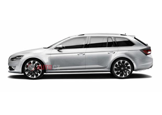 Škoda Superb Combi: Tahle ilustrace prý odpovídá skutečnosti