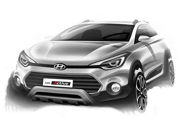 Hyundai i20 Active: Drsný hatchback na prvních skicách