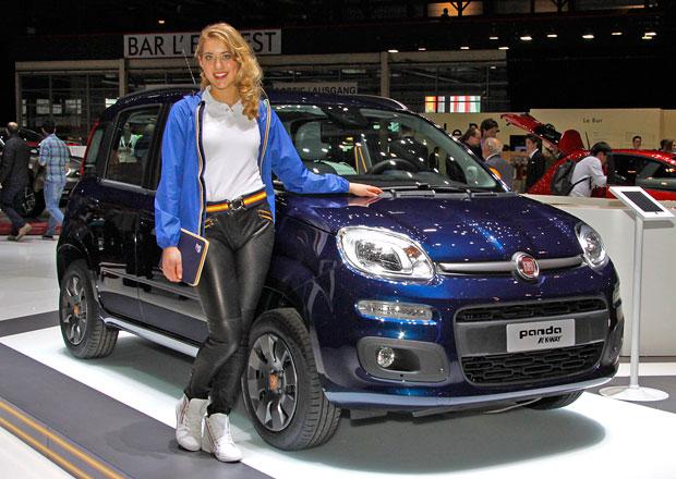 Ženevský stánek Fiatu: Outdoor, retro, krásné ženy
