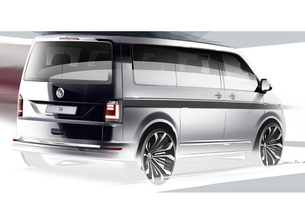 Volkswagen Transporter T6 se ukazuje na ofici�ln� skice