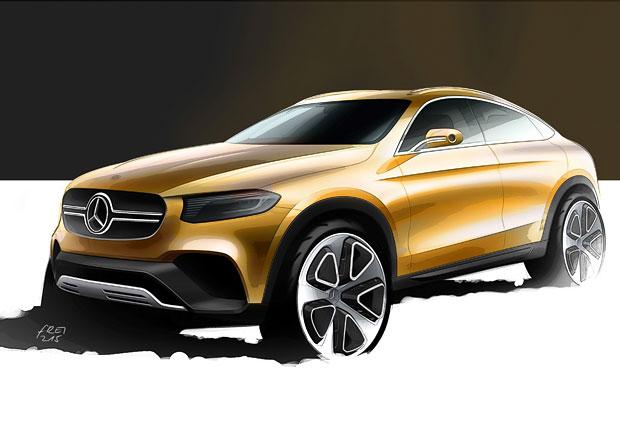Mercedes-Benz GLC Coup� na prvn� skice, studii uvid�me v �anghaji
