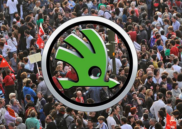 Protest: Zaměstnanci firmy Škoda Auto ho plánují na 15.dubna