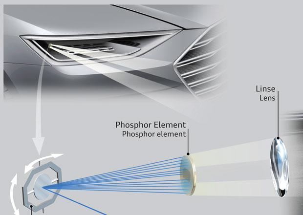 Laserov� sv�tla Audi Matrix: Budoucnost vypad� bezpe�n�ji