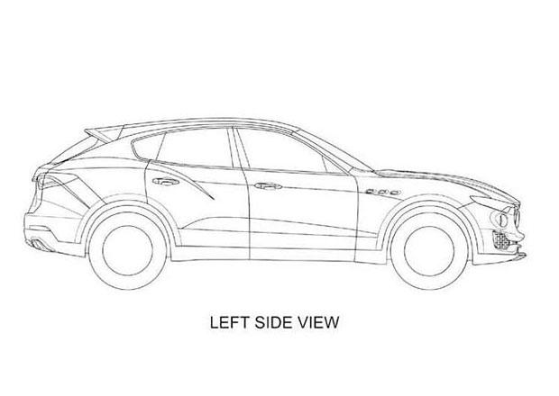 Maserati Levante odhalilo tvary na patentových nákresech