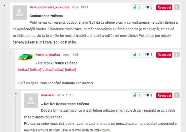Diskuze na Auto.cz: Třikrát a dost