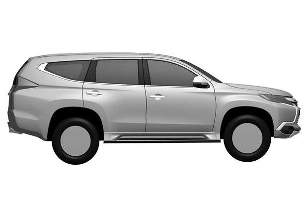 Mitsubishi Pajero Sport odhaleno na patentových snímcích
