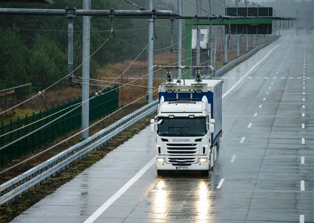 Scania a projekt Gävle Electric Road