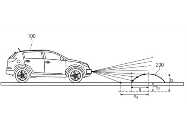 Hyundai si nechal patentovat systém na detekci retardérů