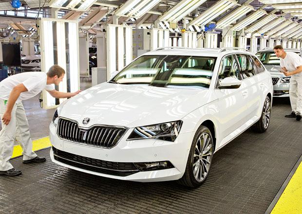 Škoda spustila v Kvasinách výrobu nového Superbu Combi