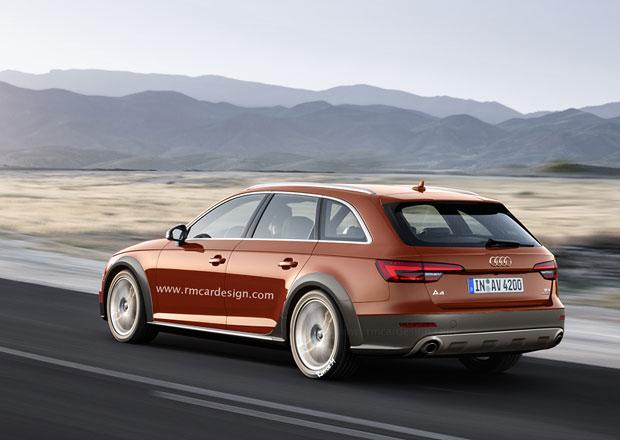 Audi A4 Allroad quattro očima grafika, ukázat by se mohlo již v září