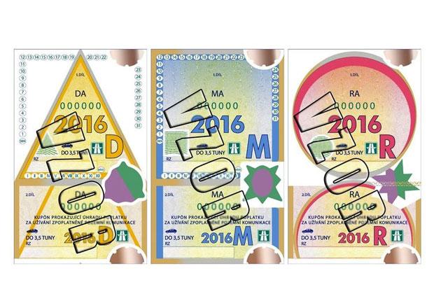 Dálniční známky budou mít nový tvar, kvůli policejním kontrolám