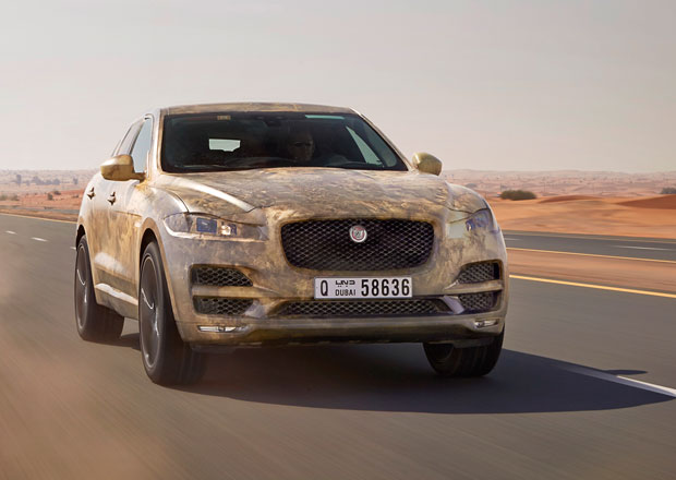Jaguar F-Pace p�i testech v extr�mn�ch teplot�ch (+video)